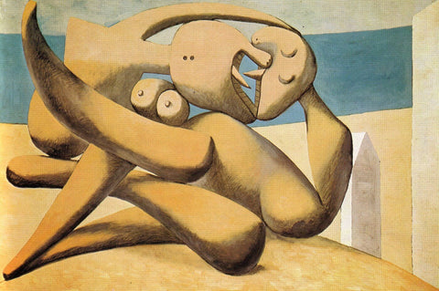 Pablo Picasso - Personnages Au Bord De La Mer  - Figure At The Seaside
