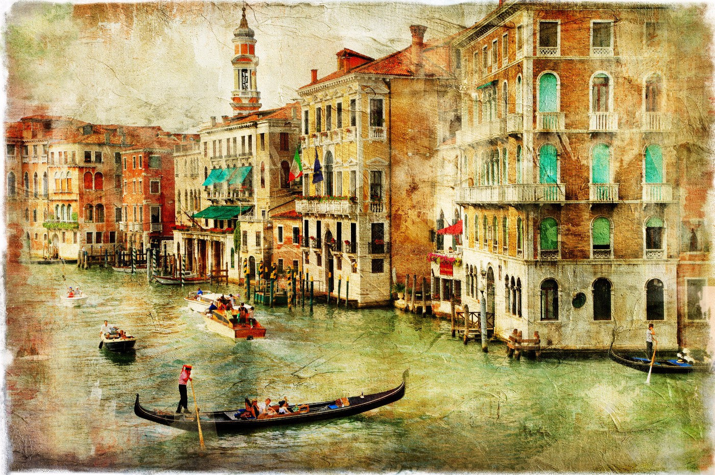 Grand Canal Canvas Prints By Tommy Buy Posters Frames Canvas Digital Art Prints Small Compact Medium And Large Variants