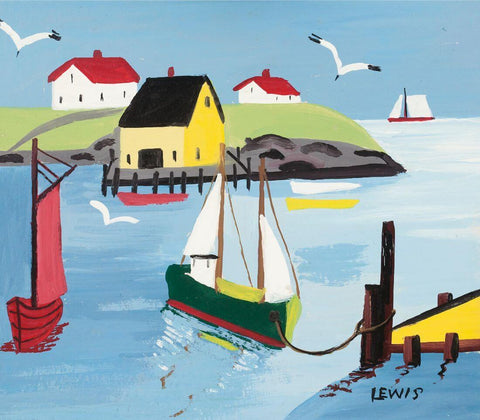 Fishing Vessels  Nova Scotia - Maud Lewis - Posters by Maud Lewis