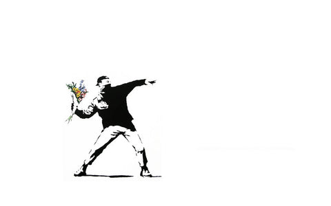 Flower Thrower - Banksy