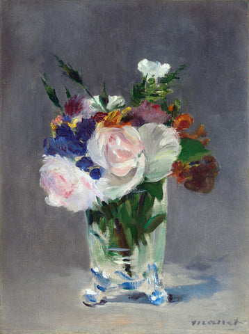 Flowers in a Crystal Vase - Édouard Manet