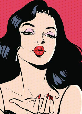 Flying Kiss - Pop Art Painting