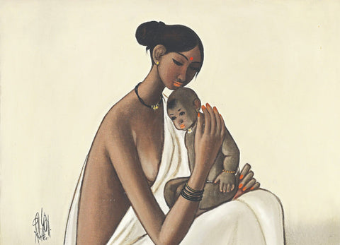 Folk Woman With Child
