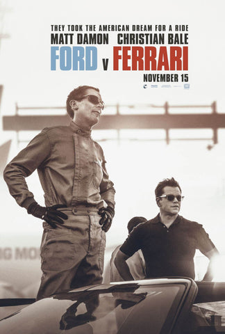 Ford Vs Ferrari - Christian Bale - Matt Damon - Le Mans 66 - Hollywood English Action Movie Poster - Posters by Kaiden Thompson