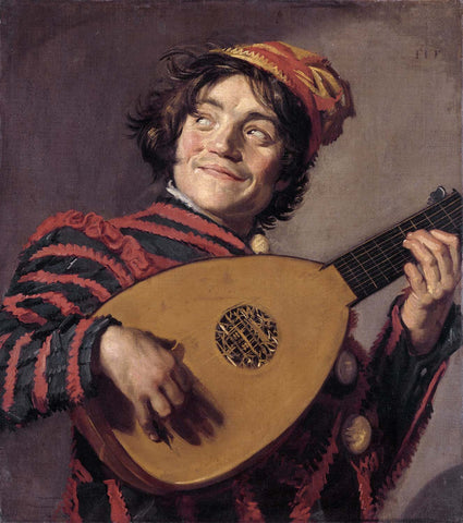 The Lute Player (Hals) - Framed Prints
