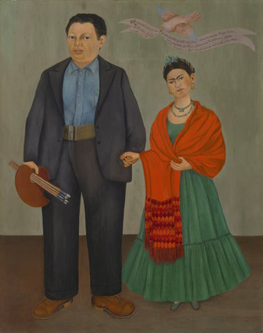Frieda And Diego Rivera by Frida Kahlo