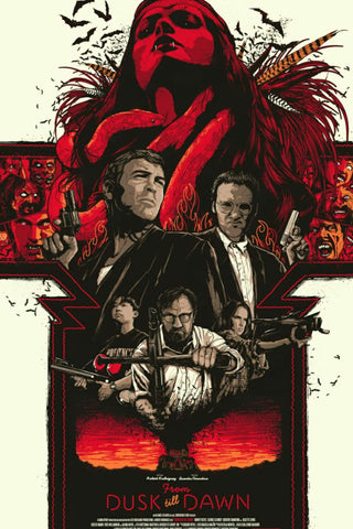 From Dusk Till Dawn - Quentin Tarantino - Robert Rodriguez Hollywood Movie Art Poster