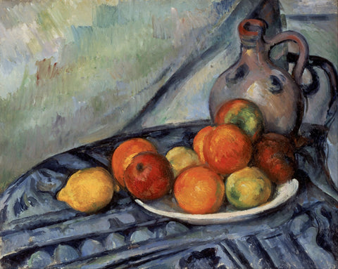 Fruit and a Jug on a Table by Paul Cézanne