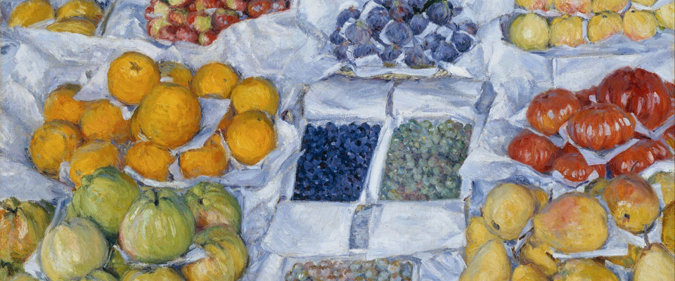 Fruit Displayed on a Stand by Gustave Caillebotte | Buy Posters, Frames, Canvas  & Digital Art Prints