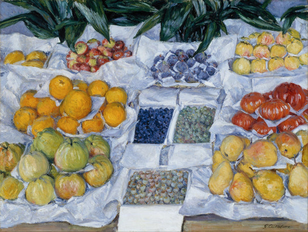 Fruit Displayed on a Stand - Canvas Prints