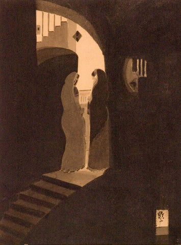 Gaganendranath Tagore - Meeting At The Staircase