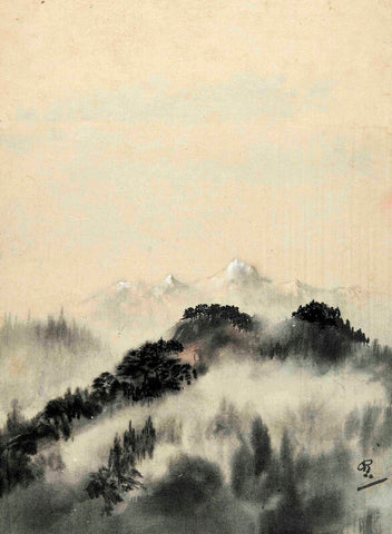Gaganendranath Tagore - Untitled (Mountains) by Gaganendranath Tagore