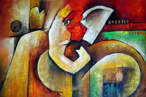 Ganapati Contemporary Ganesha Abstract Art Painting