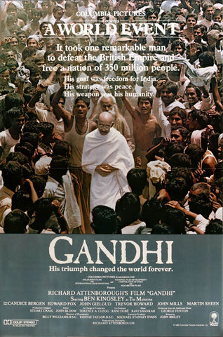 Gandhi (1982) - Hindi Movie Poster