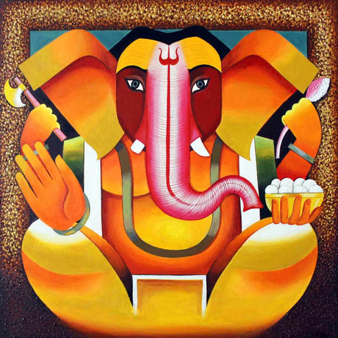 Ganesha Contemporary Ganapati Painting