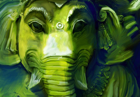 Ganpati Vinayak -Remover Of All Obstacles - Ganesha Painting Collection