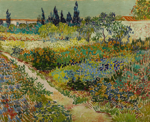 Garden At Arles - Framed Prints
