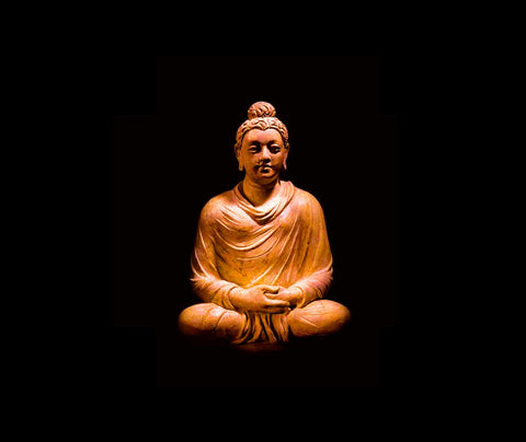 Gautam Buddha With Dark Background
