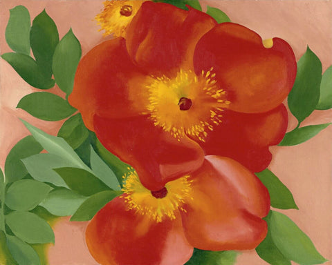 Two Austrian Copper Roses - Georgia OKeeffe
