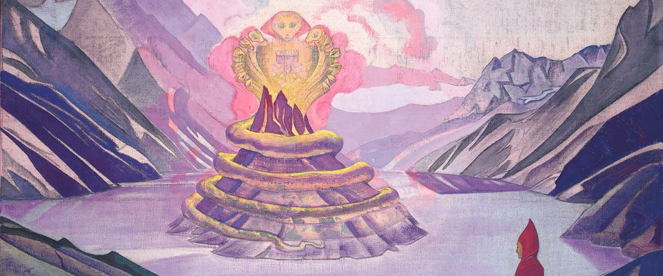 Nagarjuna Conqueror of the Serpent by Nicholas Roerich | Buy Posters, Frames, Canvas  & Digital Art Prints
