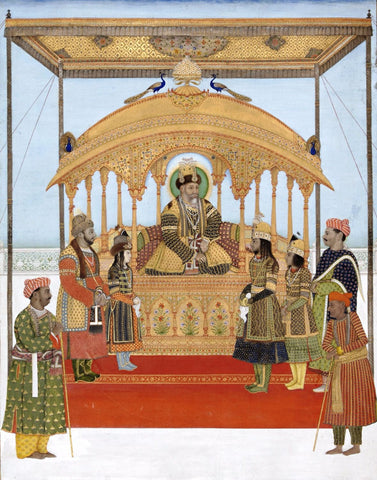The Delhi Darbar of Akbar II - Posters