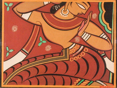 Gopini by Jamini roy