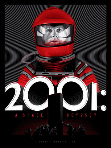 Graphic Art Poster - 2001 Space Odyssey - Hollywood Collection