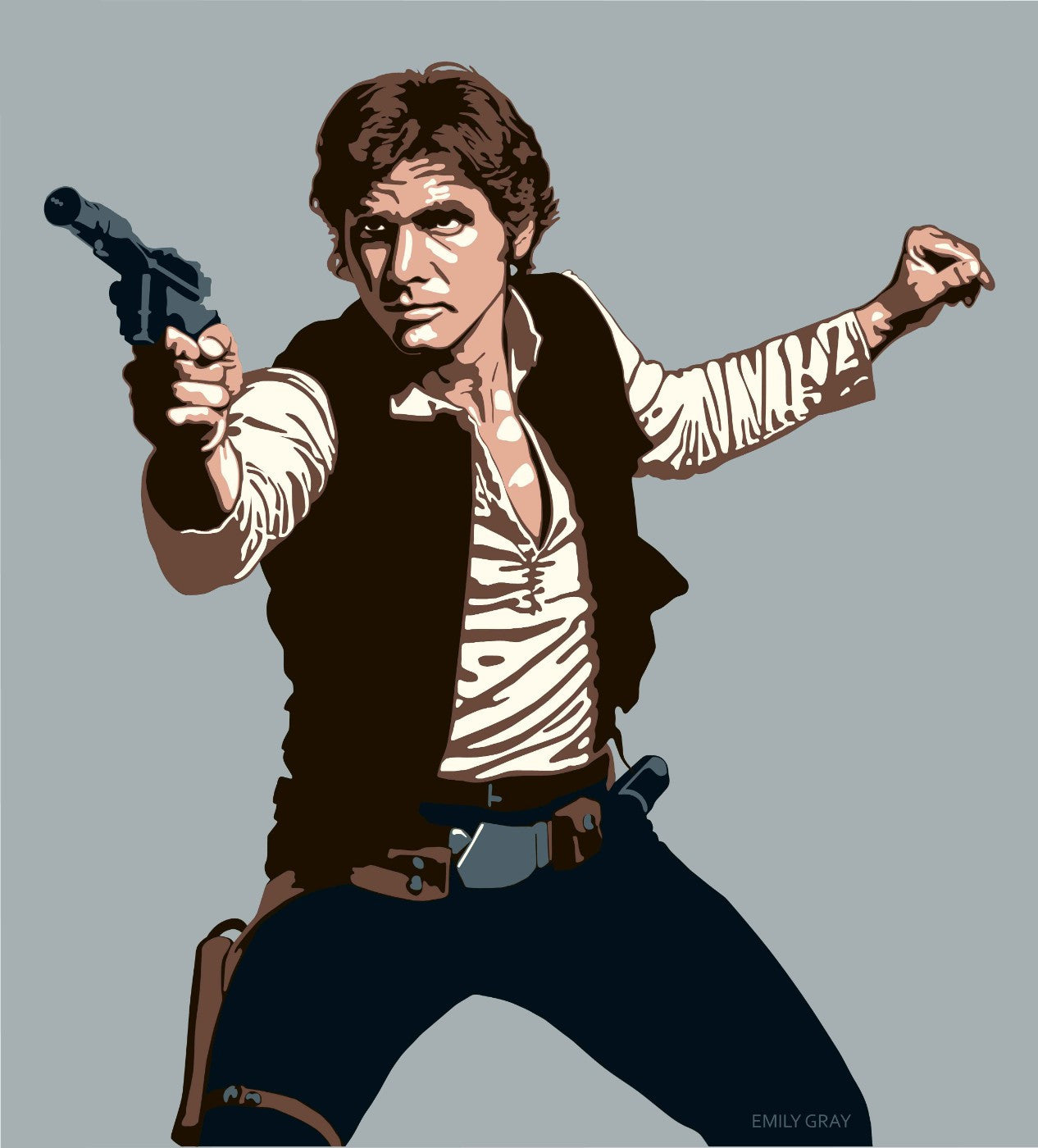 Graphic Art Poster - Han Solo - Hollywood Collection - Life Size Posters