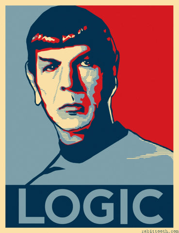 Graphic Art Poster - Star Trek - Spock Logic - Hollywood Collection