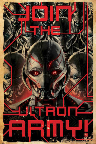 Graphic Art Poster - Ultron Army - Hollywood Collection
