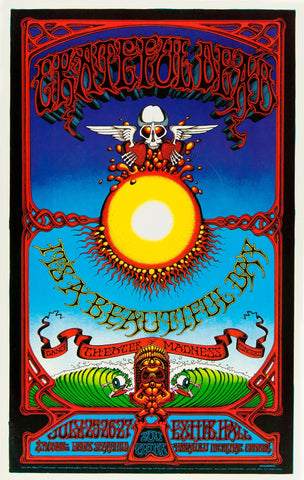 Grateful Dead - Beautiful Day -Concert Poster - Tallenge Vintage Rock Music Collection