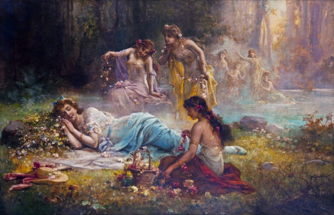 A Dream In The Forest - Hans Zatzka by Hans Zatzka