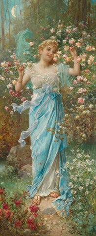 Blumenreigen - Dancing Amongst the Flowers - Hans Zatzka