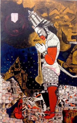 Indian Miniature Paintings - Hanuman