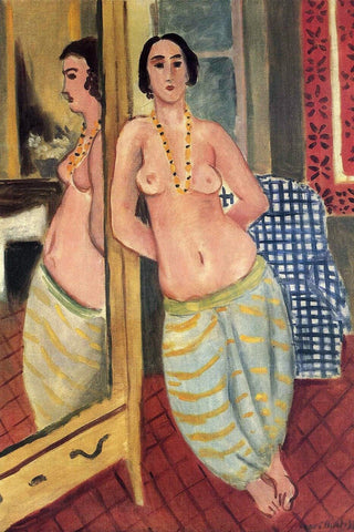Henri Matisse Standing - Odalisque - Reflected In A Mirror