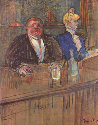 At the Café: The Customer And The Anaemic Cashier, 1898 by Henri de Toulouse-Lautrec | Buy Posters, Frames, Canvas  & Digital Art Prints