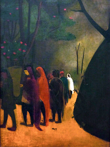 Hill Scene - Amrita Sher-Gil - Indian Artist Painting by Amrita Sher-Gil