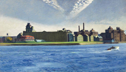 Blackwells Island by Edward Hopper