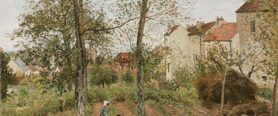 Houses at Bougival by Camille Pissarro | Buy Posters, Frames, Canvas  & Digital Art Prints