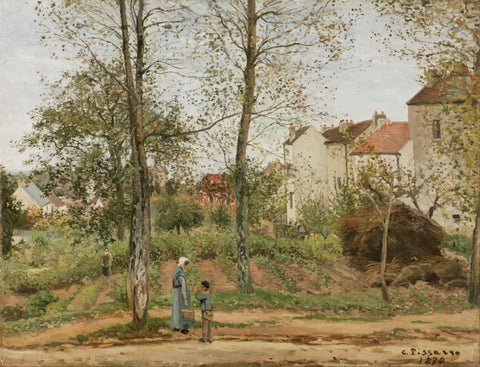 Houses at Bougival - Canvas Prints