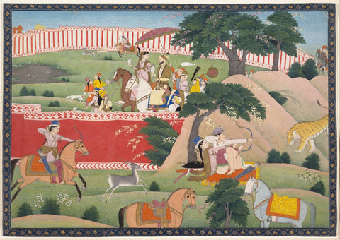 Indian Miniature Paintings - Kangra Paintings - Pleasures of the Hunt