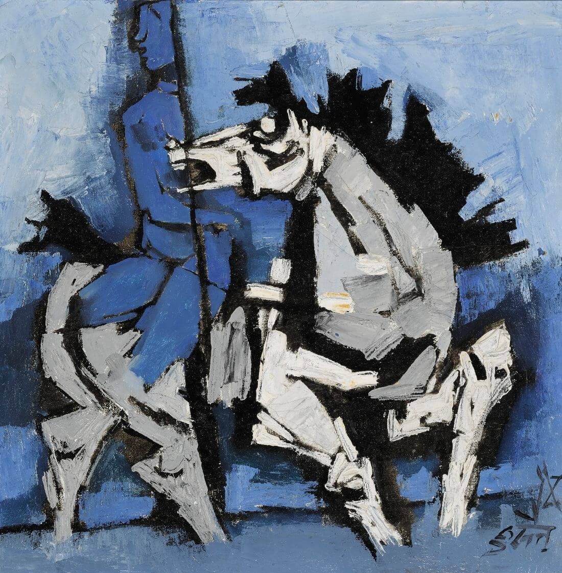 Woman On A Horse Art Prints By M F Husain Buy Posters Frames Canvas Digital Art Prints Small Compact Medium And Large Variants