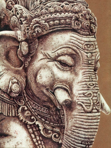 Hyperrealistic Art - Ekdanta Mahaganpati - Ganesha Painting Collection by Raghuraman