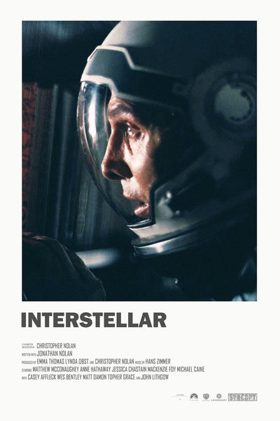 Interstellar  - Dont Let Me Leave Murph - Tallenge Modern Classics Hollywood  Movie Poster Collection - Framed Prints