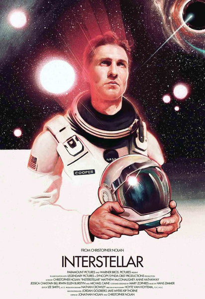Interstellar  - Matthew McConaughey - Fan Art  - Tallenge Classics Hollywood  Movie Poster Collection - Framed Prints