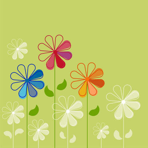 Illustrative Flower Art