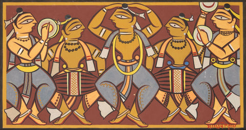 Santhal Dancers by Jamini Roy