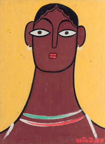 Head of a Woman by Jamini Roy