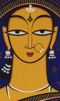 Handmaiden by Jamini Roy | Buy Posters, Frames, Canvas  & Digital Art Prints