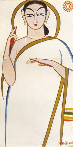 Woman by Jamini Roy